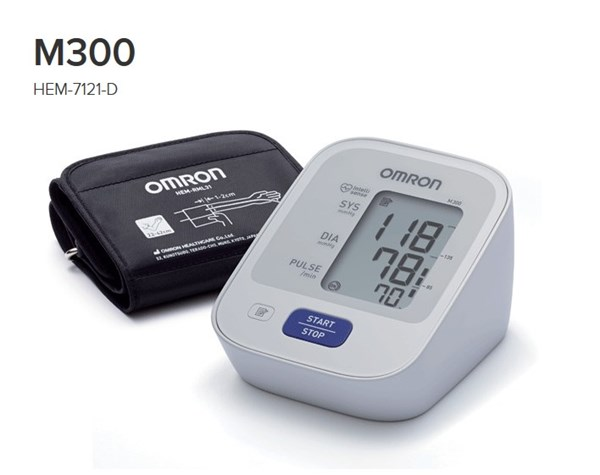 Picture of OMRON M300 upper arm blood pressure monitor HEM-7121-D