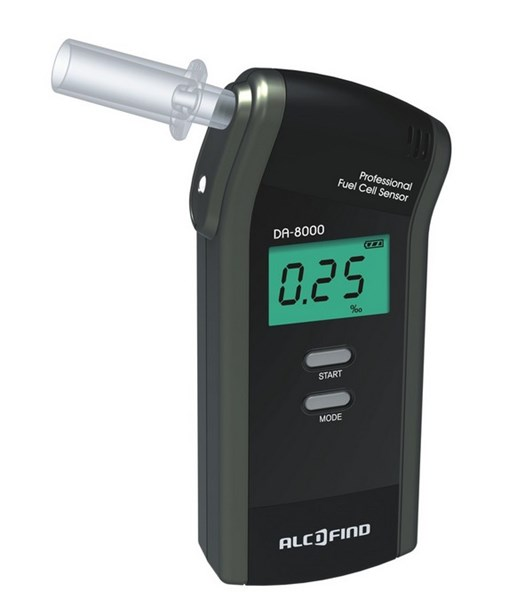 Picture of Breathalyzer Alcofind DA-8000 + 50 extra mouthpieces